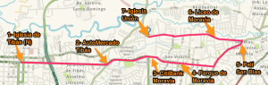 Mapa Ruta Bus Mediano